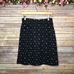 Anthropologie Wolffia Floral Embroidered Skirt